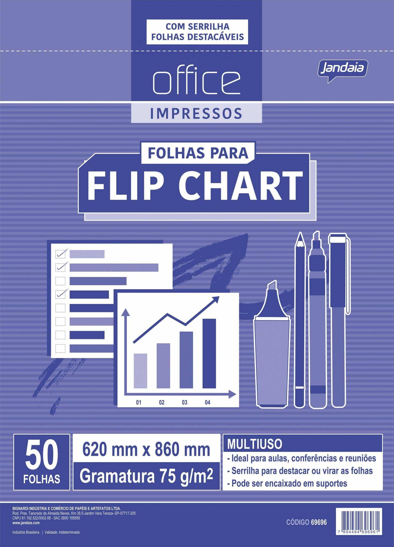 Office impressos - Folhas para flip chart - Linha 2022